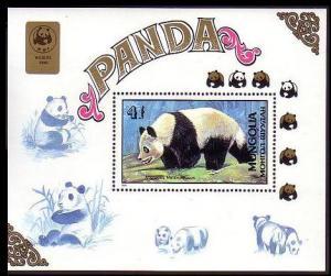 Mongolia WWF Panda MS SG#MS2011 SC#1776 MI#Block 134