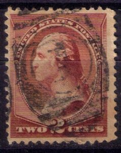 US Sc 210 Used 2c Red Brown F-VF