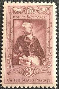 US #1097 MNH Single Lafayette SCV $.25 L4