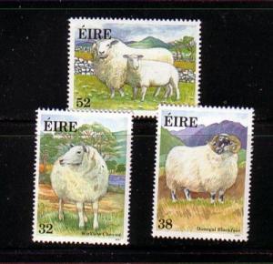 Ireland Sc 841-43 1991 Sheep stamp set mint NH