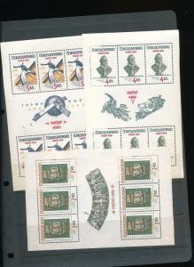 Czechoslovakia Prazsky Hrad Prague Art Sheets MNH x 6 (AUK32)