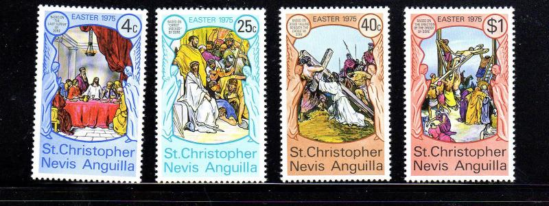 ST. KITTS- NEVIS #296-299  1975  EASTER  MINT  VF NH  O.G  a