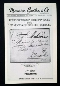 Auction Cat Belgium PRECURSEURS MARQUES D'ARMEES LETTRES ET DOCUMENTS MILITAIRES