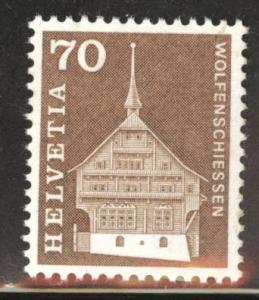 Switzerland Scott 446 MNH** 1967  70c stamp