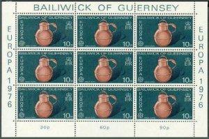 Guernsey 135-136 sheets,MNH.Michel 133-134 klb. EUROPE CEPT-1976.National Trust.