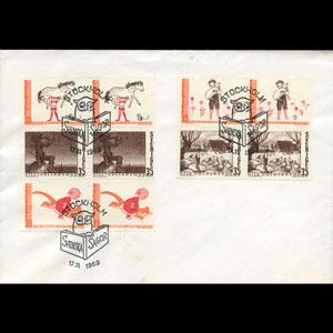 SWEDEN 1969 - FDC - 837-41 Tales