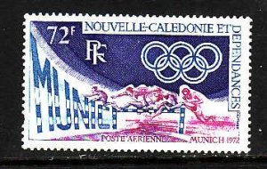 New Caledonia-Sc#C93-Unused NH airmail set-Sports-Olympics-Munich-1972-