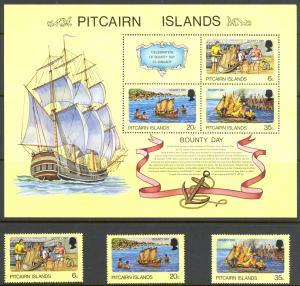Pitcairn Islands Sc# 174-176a MNH 1978 Bounty Day