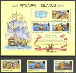 Pitcairn Islands Sc# 174-176a MNH 1978 Bounty Day