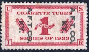 RH3 1¢ Cigarette Tubes Stamp Pair (1919) Used
