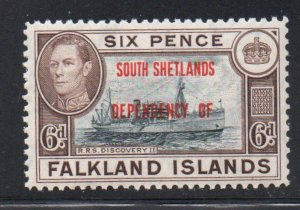 Falkland Islands South Shetlands Sc 5L6 1944 Ship stamp mint NH
