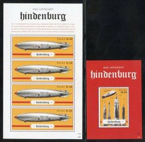 Palau 1125-26 MNH The Hindenburg. Souvenir Sheets  from 2012