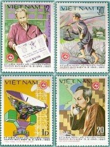 Vietnam 1980 MNH Stamps Scott 1078-1081 Ho Chi Minh Post Office Birds Newspaper