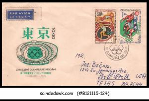 CZECHOSLOVAKIA - 1964 18th OLYMPIC GAME - 2V - FDC