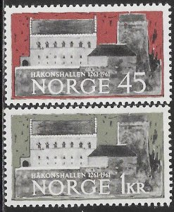 Norway 393-394 MNH -  700th Anniversary of Håkonshallen, Castle in Bergen