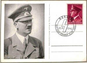 90076 - GERMANY - Postal History -  MAXIMUM CARD - Führer WWII Politics War 1942