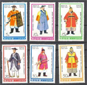 NORTH KOREA, Costumes 1979, NEVER HINGED SET