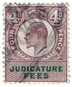 (I.B) Edward VII Revenue : Judicature Fees 4d