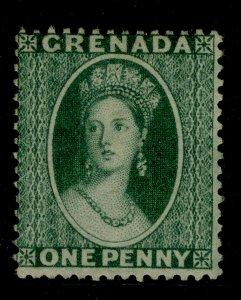 GRENADA SG14, 1d green to yellow-green, UNUSED. Cat £85.