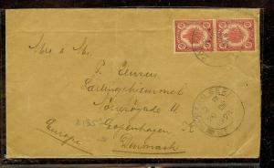 MALAYA KEDAH (P1012B) 1931  6C LEAF PR ON COVER TO DENMARK