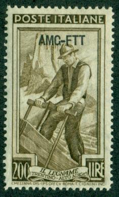 Trieste #108  Mint  VF NH  Scott $5.50  13 1/2x14