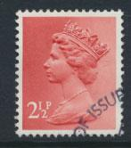 GB Machin 2½p  SG X929  Scott MH32 Used with FDC cancel  please read details
