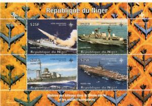 Niger 1998 Naval Ships/50th.Anniversary NATO Sheetlet (4) Perforated MNH