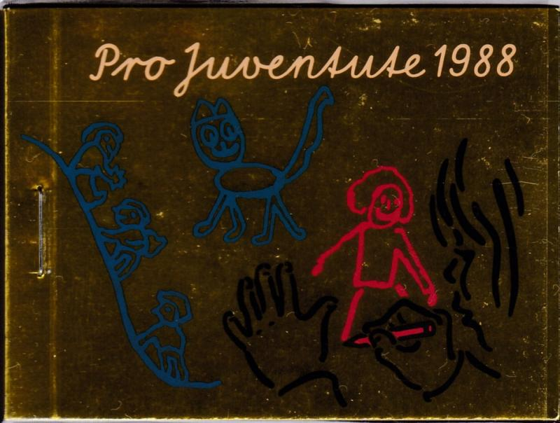 Switzerland 1988 Pro-Juventute Booklet Complete  VF/NH