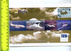 242098 BRITISH VIRGIN ISLANDS 100 years of FLIGHT PLANES 2003 year FDC