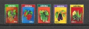 ARUBA #501-5  VEGETABLES  MNH
