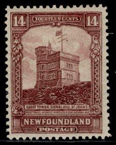 CANADA - Newfoundland GV SG174a, 14c brown-purple, M MINT. PERF 14-13½ (line)