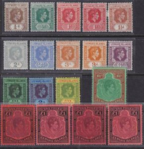Leeward Islands 1938-1951 SC 103-115,105a,109a,115a,b,c Mint SCV $481.00 Set