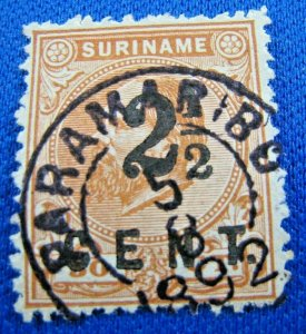 SURINAM 1873  -  SCOTT # 14   USED    (V2s2)