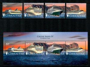 Gibraltar #1153-1156a  MNH  CV $27.00  Stamps + S/S