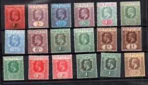 Fiji KEVII-KGV fine mint collection good Cat Value WS16673
