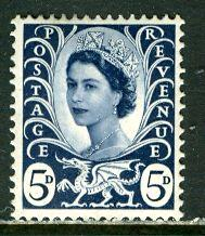 Great Britain, Regional, Wales; 1968: Sc. # 11: */MH Single Stamp