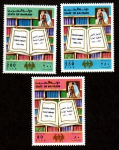 Bahrain 465-467 Mint NH MNH Golden Jubilee Public Library!