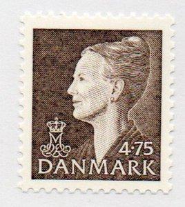 Denmark Sc 902 1997 4.75 kr brown Queen stamp mint NH