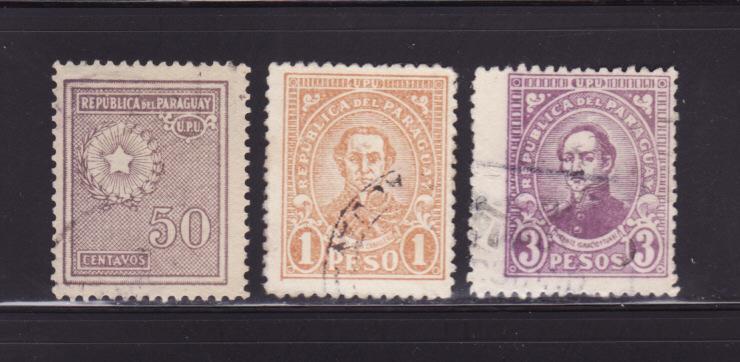 Paraguay 284, 289, 296 U Various (A)