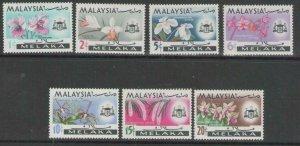 MALAYA MALACCA SG61/7 1965 FLOWERS MNH
