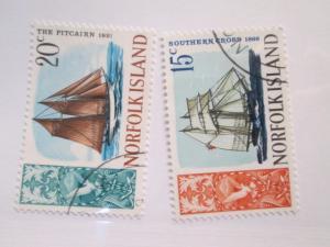 Norfolk Island #108-109 used