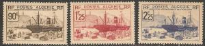 1939 Algeria Scott 128-130 NY World's Fair top values MNH