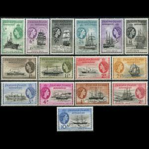 FALKLAND IS.DEPEND. 1954 - Scott# 1L19-33 Ships Set of 15 LH