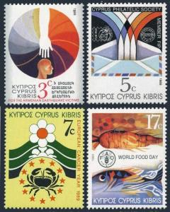 Cyprus 733-736,MNH.Michel 726-729. Armenian Earthquake,Cancer Year,FAO,Food Day,
