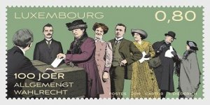 H01 Luxembourg 2019  100 Years of Universal Voting Rights  MNH Postfrisch