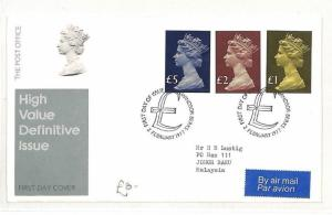 GB FIRST DAY COVER Windsor Berks High Value Definitive Issue FDC 1977 AO230