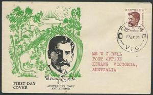 AUSTRALIA 1949 Henry Lawson commem FDC...........................38691