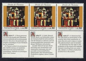 United Nations Geneva 1993 MNH declaration 50c x3 Picasso