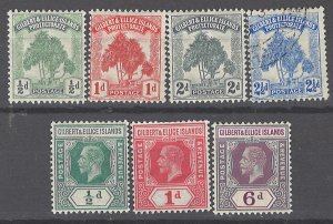 COLLECTION LOT # 2061 GILBERT & ELLICE ISLANDS 7 MH/USED STAMPS 1911+ CV+$29