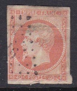 France #18 F-VF four margins used Napolean III